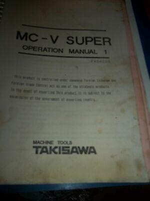 Takisawa Mc-v Operation 1 Manual 1