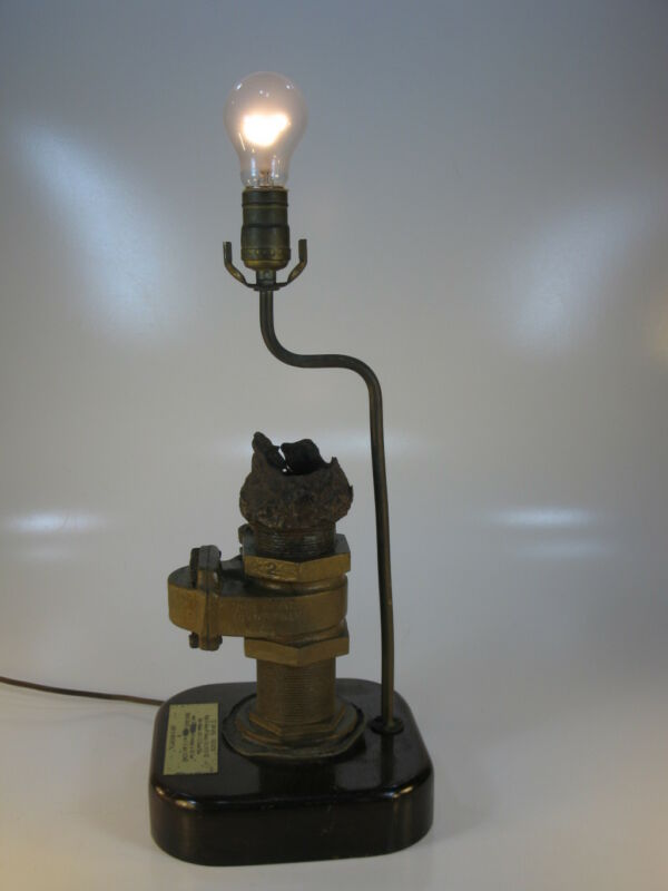 Nautical Antiques LAMP S.S. SAN JOSE BRASS RECOVERED