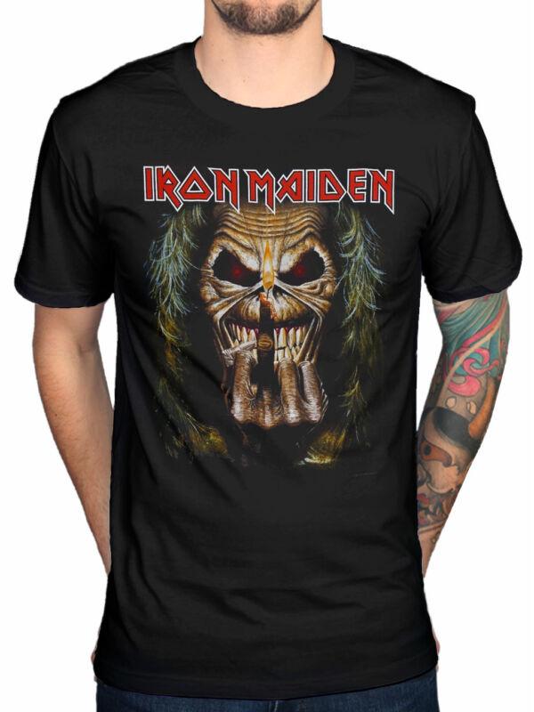 Iron Maiden Herren Eddie Candle Finger T-Shirt