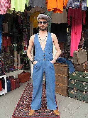 Wrangler Jeans Overall Hose blau 70er True VINTAGE men trousers dungarees blue