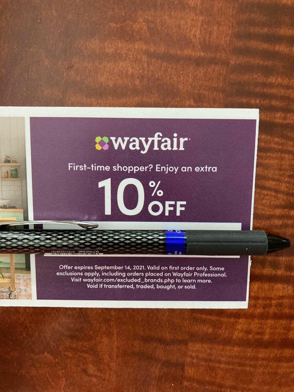 WAYFAIR 10 OFF COUPON CODE- EXPIRES 10/14/21 -Valid On First Order Only - $3.29
