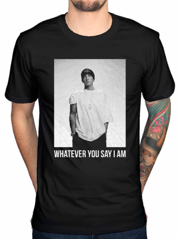 Eminem T Shirt Whatever You Say I am slim shady Official Mens Black Size XXL