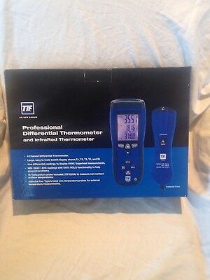 Tif3340 Professional Differential Thermometer And Infared Thermo Tester Hvac New