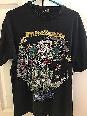 Rob WHITE ZOMBIE Clown Vtg Concert Shirt 1995 Astro Creep Freaks Oddities XL 90s - Rob Zombie Clown