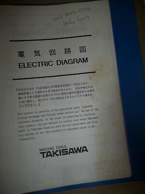Takisawa Electricak Diagram Mac-vo -fanuc O-mate M Model C