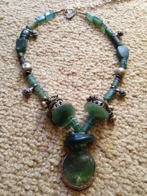 Antique Roman Glass Necklace