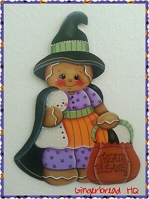 HP Gingerbread Halloween wall hanging, outside decorations,  ginger collectors](Halloween Crafts Decorations Outside)