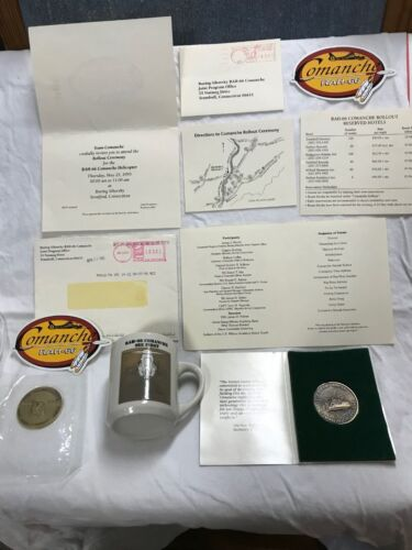 Boeing Sikorsky Rollout Comanche RAH-66 Invitation First Flight Coins Mug Decals