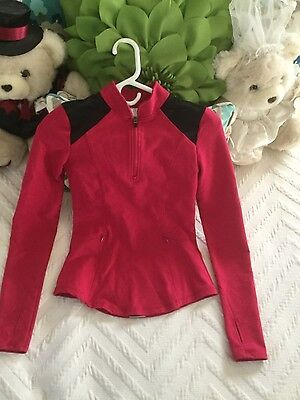 FABLETICS Zip Front Jacket Women's XXS Pink Stretch Fitted