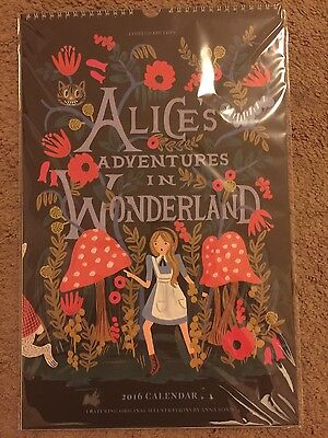 New Sealed 2016 Alices Adventures In Wonderland Calendar 11X17   Rifle Paper Co