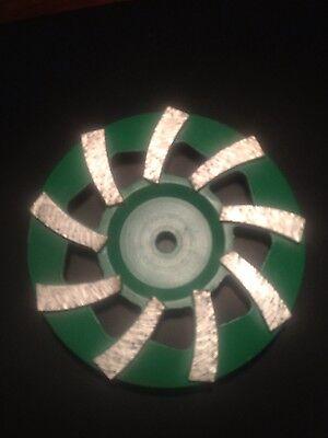 7 Inch Diamond Spiral Turbo Cup Wheel For Concrete Bore 5811
