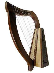 PIXIE HARP CELTIC-STYLE 12 DuPont Hard Nylon Strings Beautiful Tone  *NEW!*