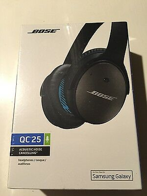New Black Bose QuietComfort 25 QC25 Headband Headsets for Samsung / Android