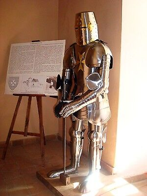 Medieval Knight Suit of Armor 15th Century Combat Full Body Armour With Sword