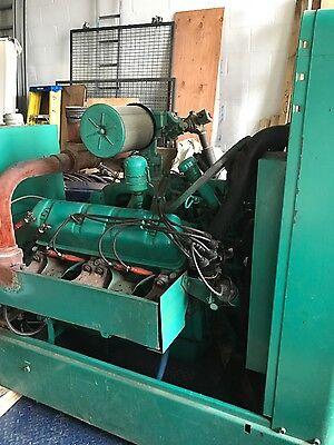 Onan Generator 75 Kw Set Low Hours Lpng International Uv-549 Cummins