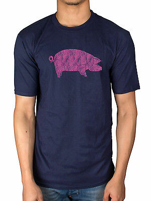 Official Pink Floyd AWBDG T-Shirt Pig Smoking Blues Dark Side Of The Moo