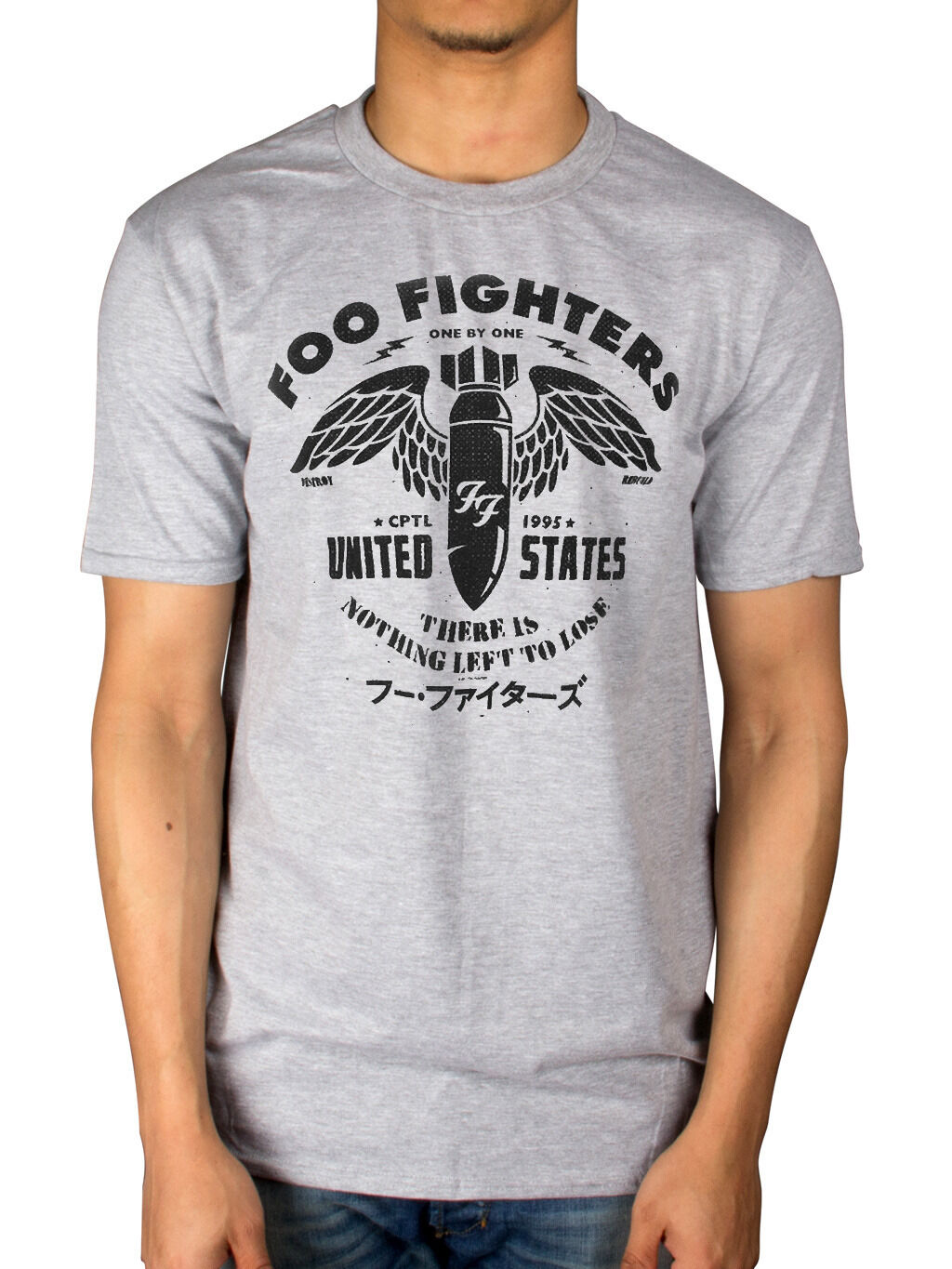 Grey T-Shirt NEW /& OFFICIAL! Foo Fighters /'There Is Nothing Left To Lose/'