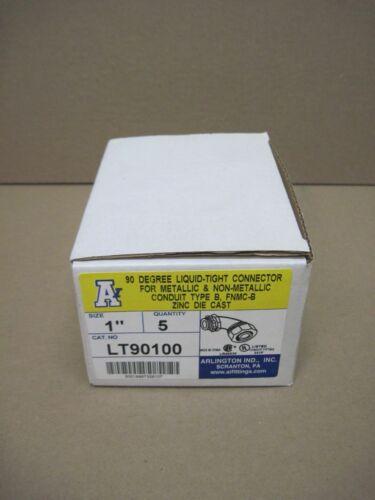 "Arlington LT90100 1"" 90° Liquid Tight Connector Die Cast Box of 5"