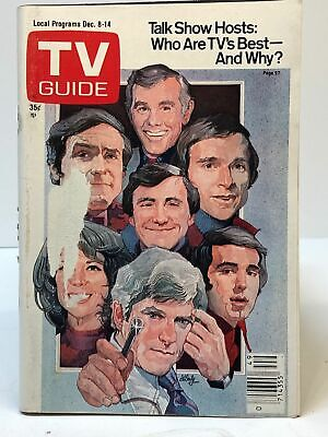 Vintage TV Guide Dec 8-14 1979 Talk Show Hosts Who Are TV's Best And