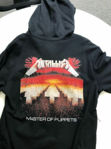 METALLICA Masters of Puppets hoodie built in EARBUDS T-shirt