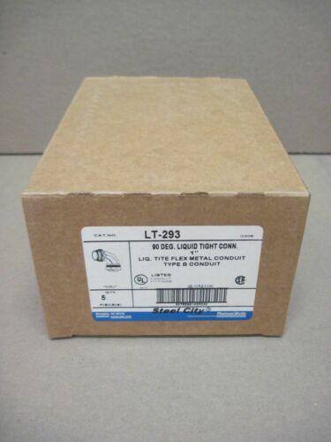"Steel City LT-293 1"" 90° Liquid Tight Connector Die Cast Box of 5"