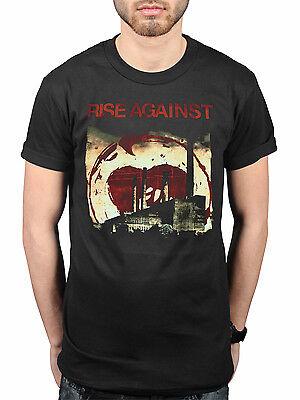 Official Rise Against Smoke Stacks T-Shirt Hardcore Rock Band - Hardcore Stack