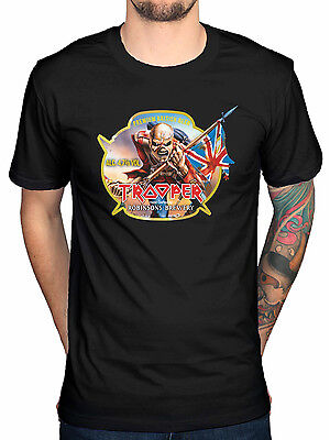 Official Iron Maiden Trooper Robinsons Beer T-Shirt Peace Of Mind Somewhere In T