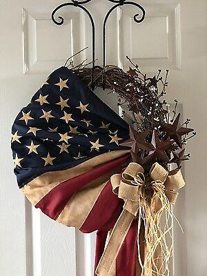 Patriotic Wreath, 4th Of July Wreath, Americana Wreath, Memorial Day Wreath