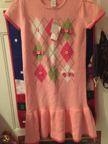 Gymboree Valentines/Pink Argyle Sweater Dress NWT Size 12