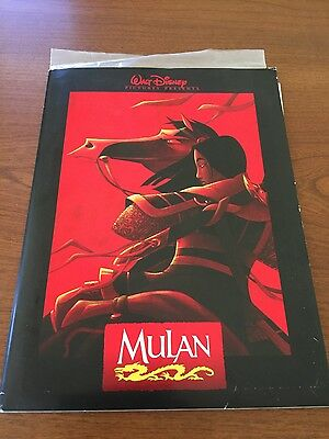 Disney's Animated Mulan Original Press Kit 9 Photos and Press Booklet