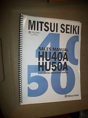 Mitsui Seiki Sales Manual Hu40a Hu50a Horizontal Machining Center