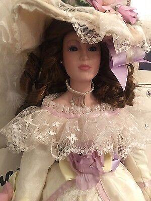 "24"" Seymour Mann victorian style  porcelain doll""Emmaline"" in box w/COA"