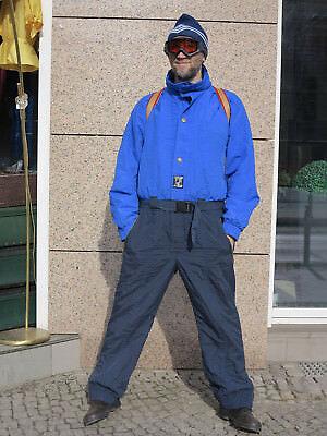 OUTDOOR olympia Skioverall Skianzug blau 80er True VINTAGE Overall ski suit blue