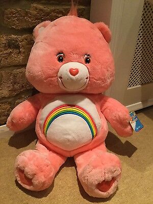 GIANT 65CM CARE BEARS CHEER BEAR - PERFECT CONDITION. WITH TAG.