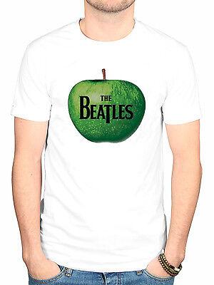 Official The Beatles Apple Logo T-Shirt Lennon McCartney Lonely Heart White Albu