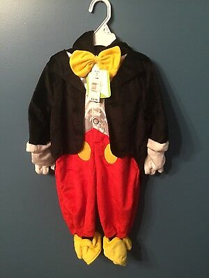 Disney Baby MICKEY MOUSE 3-6 Months NEW Toddler Children infant Costumes (Mickey Mouse Kids Costumes)