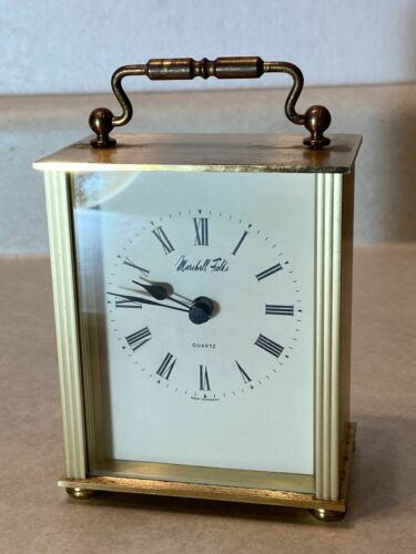 Vintage Marshall Field & Co. Desk Shelf Clock Brass W Germany