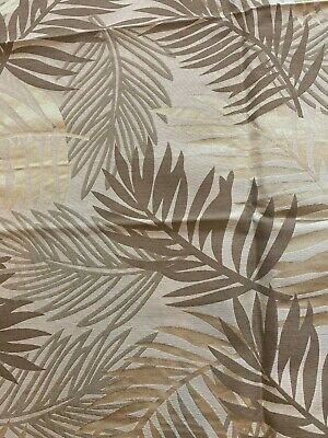KRAVET GOLDEN BROWN PALM LEAF SILK WOOL COTTON DECOR PILLOW FABRIC 24