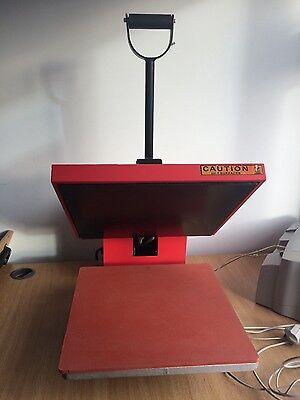 Heat press sublimation 38 x 38cm clam tshirt print vinyl transfer machine