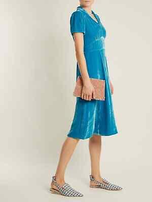 HVN Blue velvet Morgan Dress NWOT