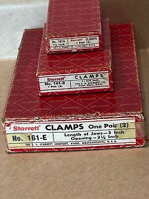 Lot Of Starrett Parallel Clamps 161-a B E W Boxes