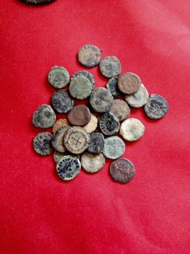 UNCLEANED AND UNSORTED DESERT ROMAN CROSS COINS, Very Rare to find !!