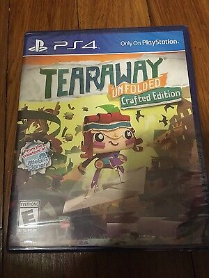 Tearaway Unfolded Crafted Edition (Sony Playstation 4 2015) Brand new