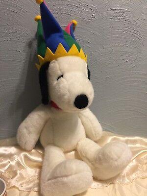 Snoopy Plush Stuffed Animal Macys Court Jester 2000 New Year Peanuts Dog