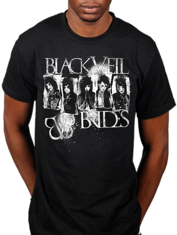 Official Black Veil Brides Holy Death T-Shirt Rock Band Inferno Badge Skull BVB