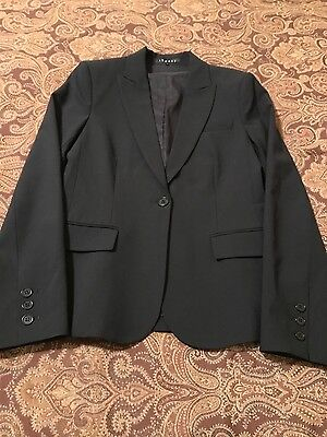 Theory Black Wool Tailor Fabric Jacket Size 4