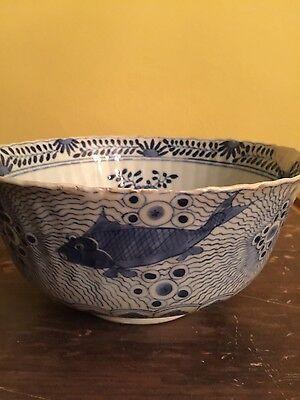 Antique Chinese fish bowl, Kangxi mark, C19th