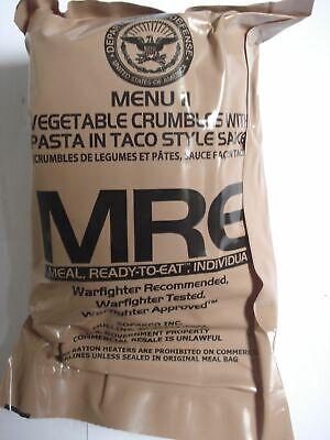 US MRE Menu 11, Vegetable Crumbles, Army EPA Verpflegung, Notration, Notvorrat
