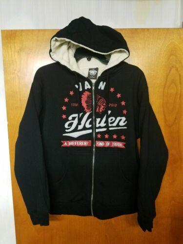 VAN HALEN Hoodie SMALL 2012 Concert Tour Exclusive Full ZIp up Sherpa Lined NEW!