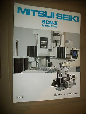 Mitsui Seiki Cnc Jig Grinding 6cnii Specification